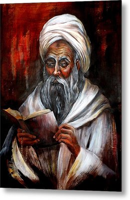 Moslem Man With Koran Metal Print