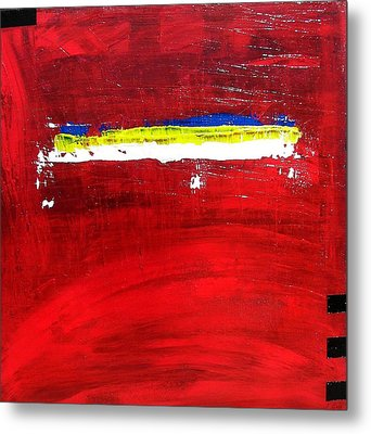 Metal Print featuring the painting Mostly Red by Carolyn Repka
