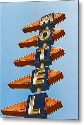 Motel Metal Print by Matthew Bamberg