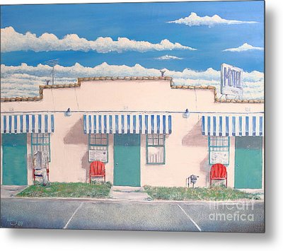 Motel Six . 1989 Metal Print by Wingsdomain Art and Photography