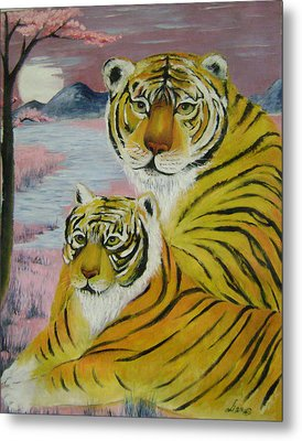 Mother And Child  Metal Print by Lian Zhen