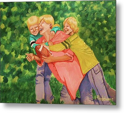 Mother And Sons Metal Print