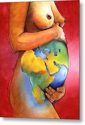 Mother Of All Colors Metal Print by Christopher Marion Thomas