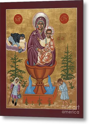 Metal Print featuring the painting Mother Of God Life Giving Spring by William Hart McNichols