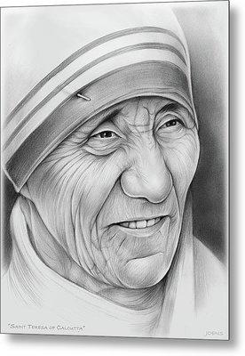 Mother Teresa Metal Print by Greg Joens