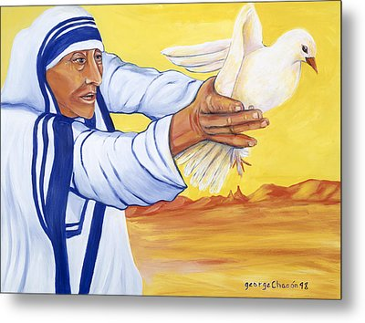 Mother Teresa In New Mexico Metal Print by George Chacon