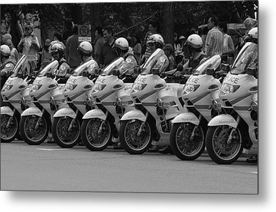 Motorcycle Brigade Metal Print by Robert Knight