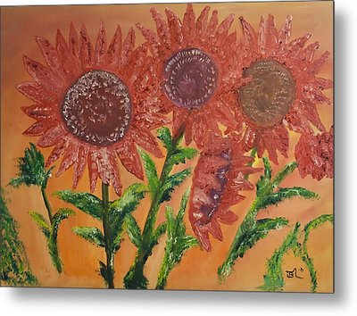 Moulinrouge Sunflowers Metal Print by James Bryron Love