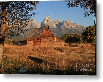 Moulton Barn At Sunrise Metal Print by Edward R Wisell