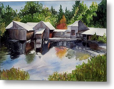 Moulton's Mill Metal Print by Anne Trotter Hodge