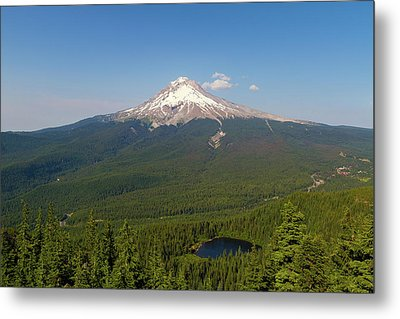 Mount Hood Over Mirror Lake Metal Print by David Gn