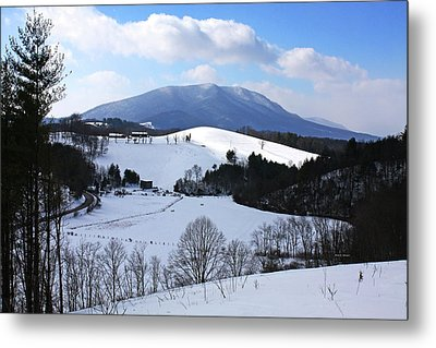 Mount Jefferson Winter Metal Print