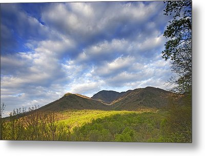 Mount Leconte In Great Smoky Mountains National Park Tennessee Metal Print by Brendan Reals