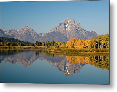 Metal Print featuring the photograph Mount Moran by Steve Stuller