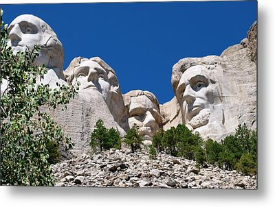 Mount Rushmore Close Up View Metal Print