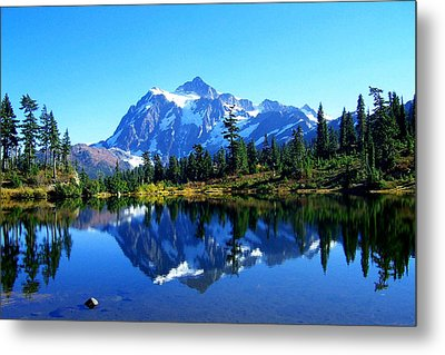 Mount Shuksan And Picture Lake Metal Print
