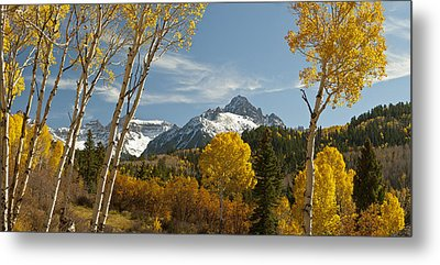 Mount Sneffels Autumn Panorama Metal Print by Dusty Demerson