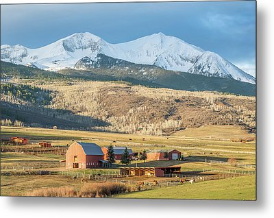 Mount Sopris Sunrise Metal Print