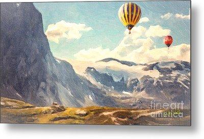 Mountain Air Balloons Metal Print