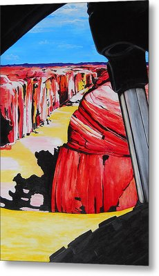 Mountain Bike Moab Slickrock Metal Print by Susan M Woods