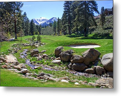Mountain Golf Course Metal Print by Thomas Marchessault