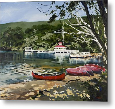 Mountain Lake Summer Metal Print