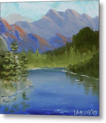 Mountain Landscape By Northern California Artist Mark Webster Metal Print by Mark Webster