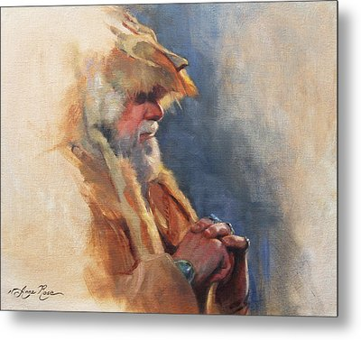 Mountain Man Metal Print by Anna Rose Bain