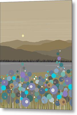 Mountain Meadow Morning Metal Print by Val Arie