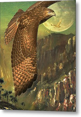 Mountain Of The Hawks Metal Print by Wingsdomain Art and Photography