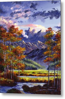 Mountain River Valley Metal Print