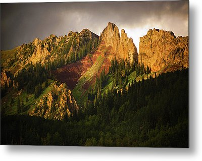 Mountain Storm Light Metal Print