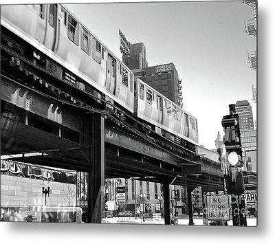 Moving Boxes Line Metal Print by Trish Hale