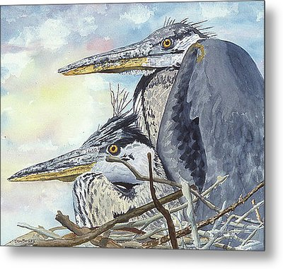 Mr And Mrs Bird Metal Print by Don Bosley