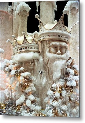 Mr And Mrs Winter Metal Print by Barry Shaffer