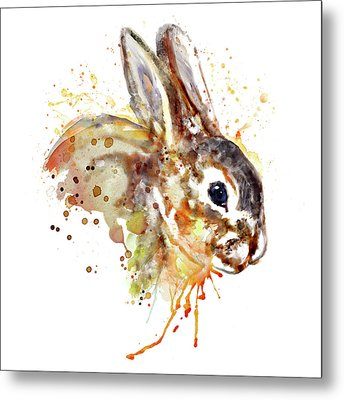 Metal Print featuring the mixed media Mr. Bunny by Marian Voicu