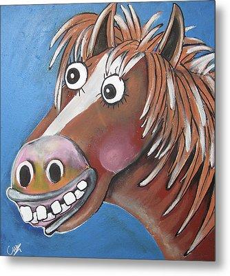 Mr Horse Metal Print