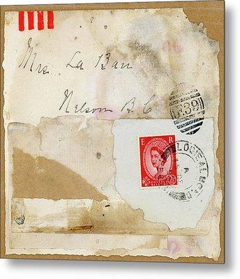 Mrs. Laban Collage Metal Print by Carol Leigh
