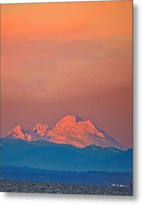 Mt Baker From Edmonds Harbor Metal Print