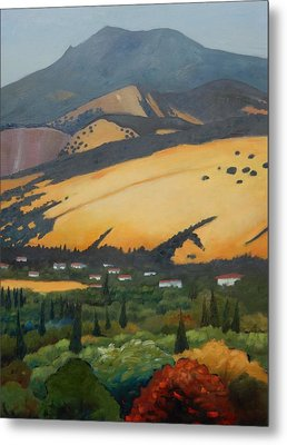 Metal Print featuring the painting Mt. Diablo Above by Gary Coleman