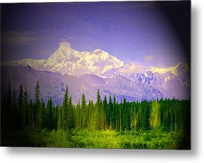 Metal Print featuring the photograph Mt Mckinley Ambiance by Jack G  Brauer