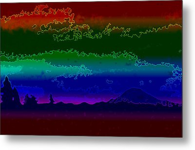Mt. Rainier Dream Metal Print by Shirley Heyn