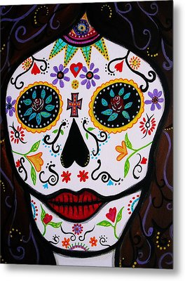Metal Print featuring the painting Muertos by Pristine Cartera Turkus