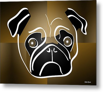 Mug Of A Pug Metal Print by Stephen Younts