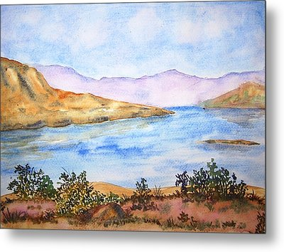 Mulshi Lake Metal Print by Monika Deo