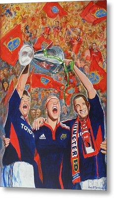 Munster Heiniken Cup Winners 2008 Metal Print by Tomas OMaoldomhnaigh