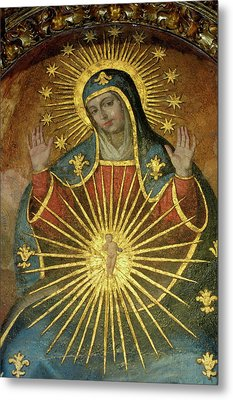 Mural Depicting The Virgin Mary Inside The Catedral De Cordoba Metal Print by Sami Sarkis