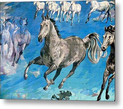 mural detail Equus Descending  Metal Print by Tim  Heimdal