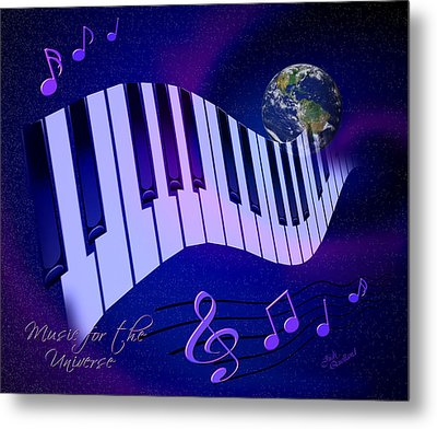 Music For The Universe Metal Print by Judi Quelland
