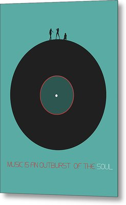 Music Is An Outburst Of The Soul Poster Metal Print by Naxart Studio